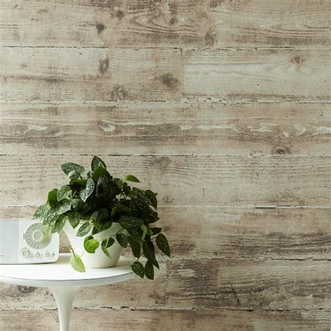 Shiplap Wallpaper by Sepulveda Shiplap Mural Removable Wallpaper Taupe West Elm