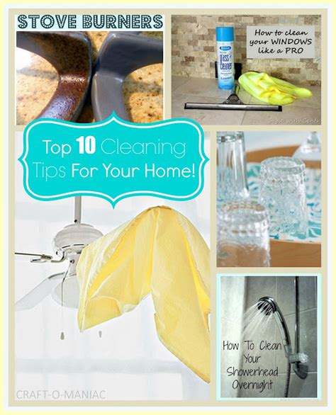 Top 10 Cleaning Tips For Your Home! Craftomaniac