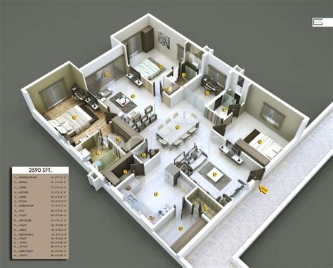 3 Bhk Home Design Plan : 3 Bhk Plans For Houses