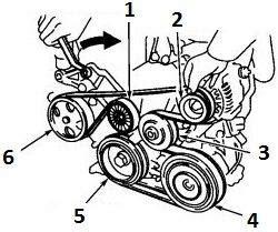 wiring schematic diagram  toyota camry serpentine
