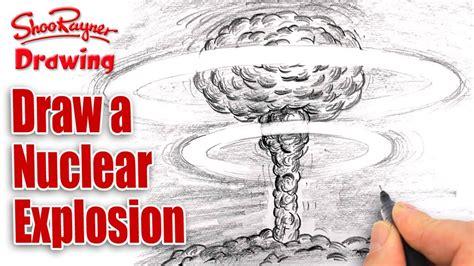 draw  nuclear explosion mushroom cloud spoken tutorial youtube
