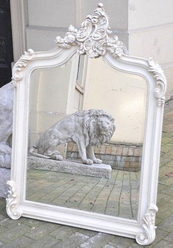 large shabby chic mirror white antique white cream ornate boudoir large shabby chic french dress mirror 4 foot antiques chic