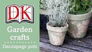 Garden Ideas Decorating Terracotta Pots With Decoupage