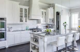 white and gray granite countertops