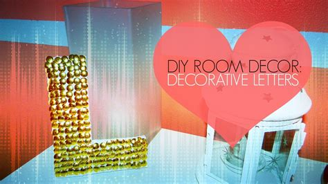diy room decor decorative letter wall art thumb tack