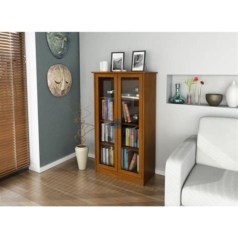 Door Bookcase by Ameriwood Altra Cherry Glass Door Bookcase 34825 The