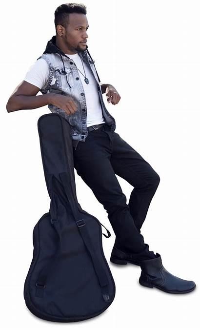Cutout Guitar Render Photoshop Standing Artist African