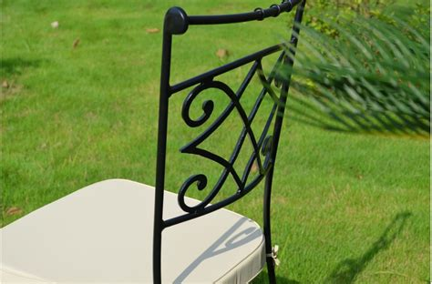 wrought iron chair outdoor patio washable cushion
