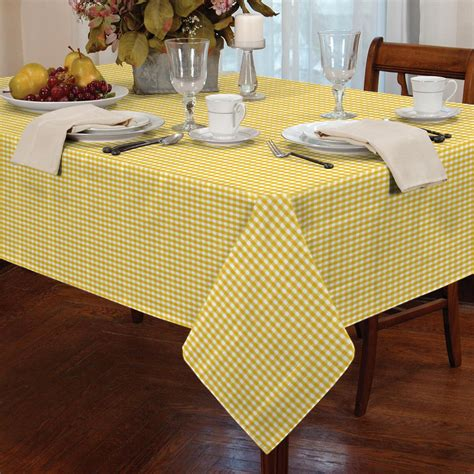garden picnic gingham check tablecloth dining room table linen kitchen cover mat ebay