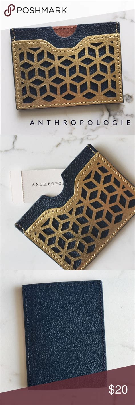 nwt anthropologie card wallet nwt  images