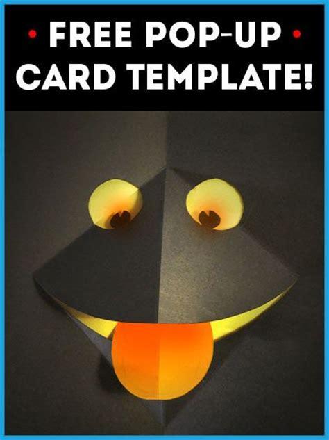 pop  card template   tes  kids  cards