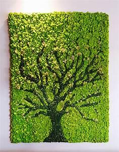 Moss Art Wall Greenery Office Interiors