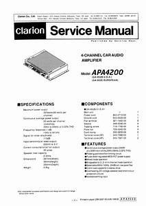 Clarion Apa4200 Service Manual