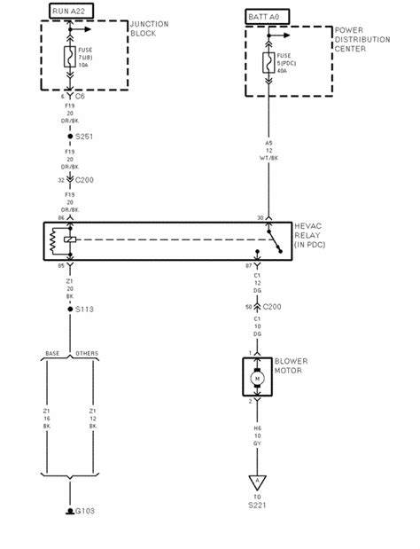 Need wiring diagram for the AC/Heater blower on a 1999 Dakota