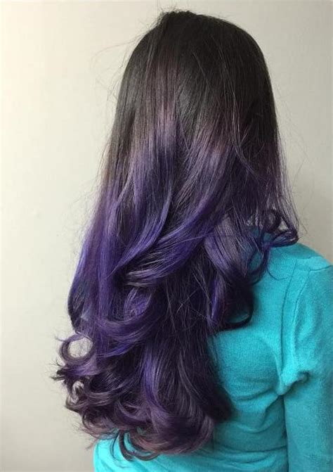 luxuriously royal purple ombre hair color ideas