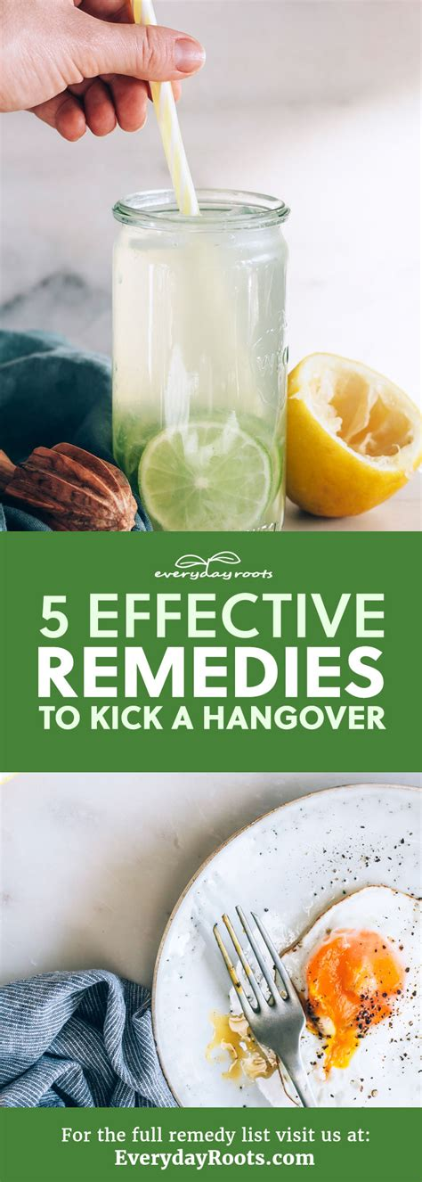 hangover remedies 5 effective remedies to kick a hangover everyday roots