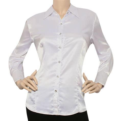 iron puppy women satin charmeuse lslv button  solid collar shirts blouse ebay