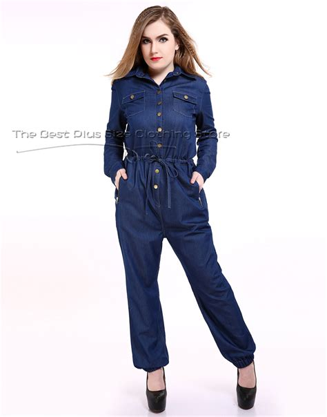 cheap plus size rompers and jumpsuits popular plus size denim jumpsuit buy cheap plus size denim