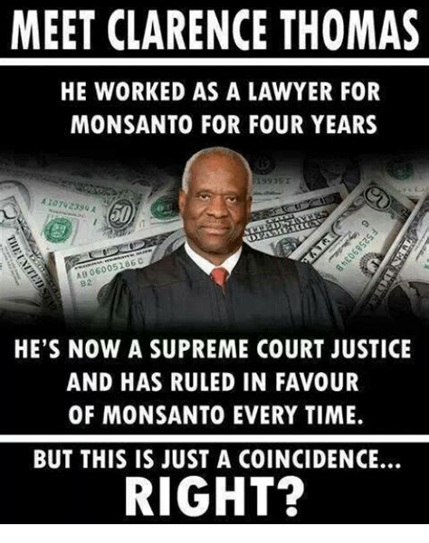 monsanto supreme court clarence memes of 2016 on sizzle america