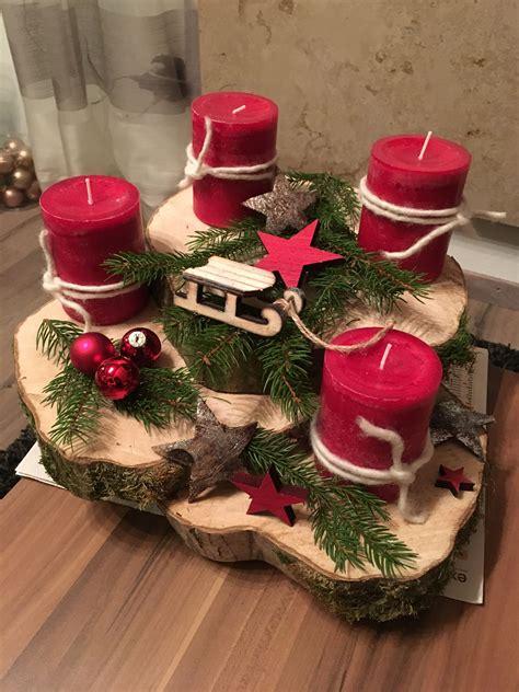 Weihnachtsdeko Adventskranz by Adventskranz Deko Weihnachtskerzen