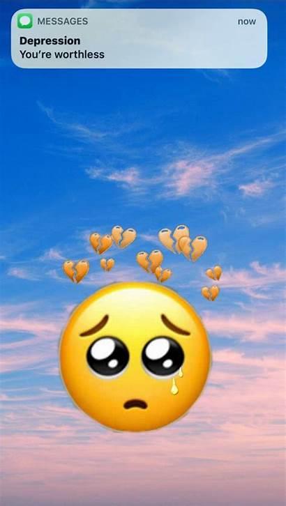 Emoji Sad Iphone Wallpapers Emojis Backgrounds Boy