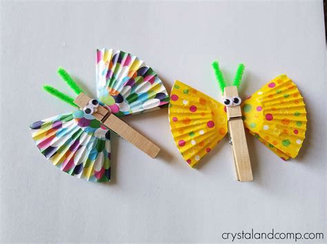 clothespin crafts b is for butterfly craft