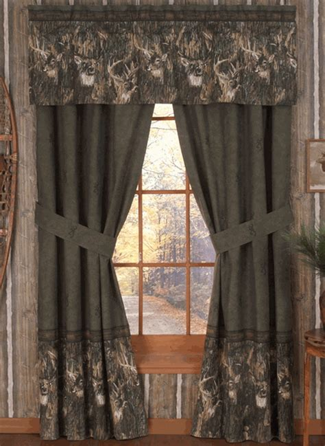 browning camouflage curtains browning whitetails rod