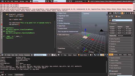creating  custom toolbar panel  python scripting