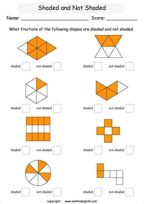 shading fractions of shapes ks2 worksheets ks2 fractions