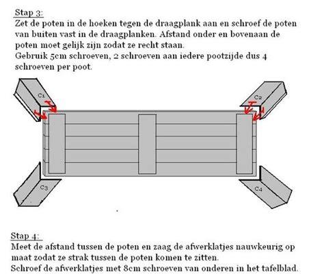 hoe maak ik een tafel steigerhout steigerhout tafels bouwtekeningen en beschrijving hoe je