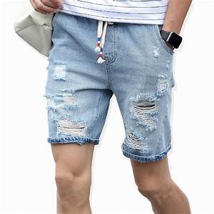 2017 Menu0026#39;s cotton thin denim shorts New fashion summer male Casual short jeans Soft and ...