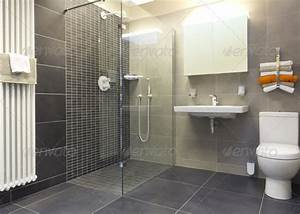 walk in shower in a modern bathroom stock photo by With carrelage adhesif salle de bain avec led strip lights