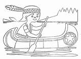 Canoe Coloring Boat Pages Getcolorings Printable sketch template