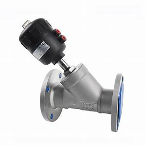 Stainless Steel Pneumatic Piston Flange Angle Seat Ball Valve