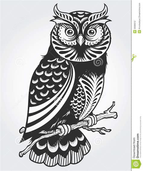 decorative owl stock vector image  flourish indie