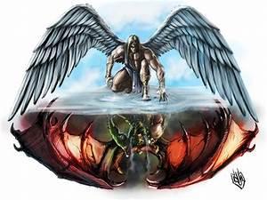 Angel vs Devil Tattoos   Angel Wings And Demon Wings on ...