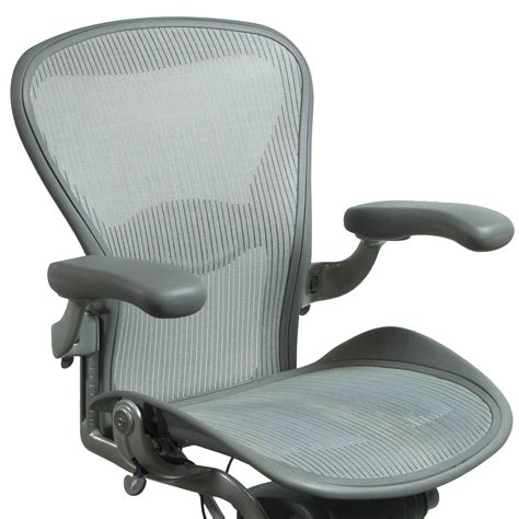 aeron chair size c used herman miller aeron used size c task chair quartz