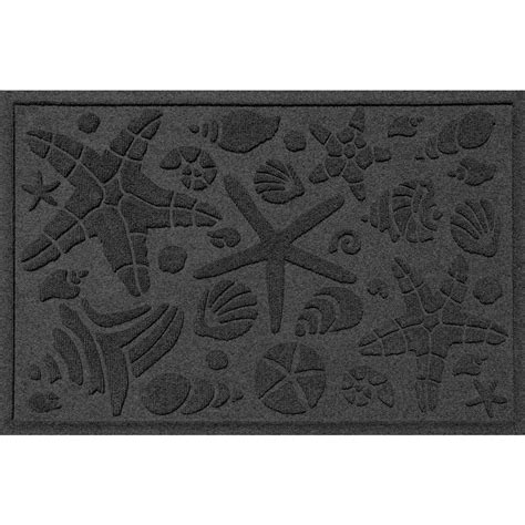 Commercial Doormats by Trafficmaster 48 In X 72 In Charcoal Rubber Commercial