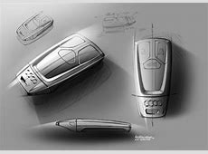 New Audi TT Interior Design Sketch Key Fob by Maximilian