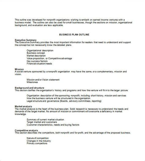 business plan template   word excel  psd