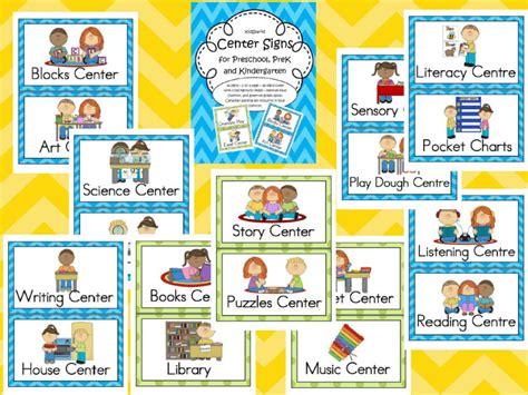 center signs  preschool prek  kindergarten