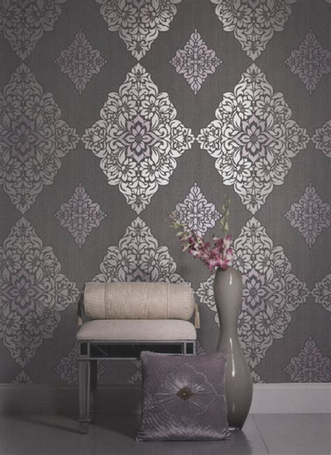 american blinds and wallpaper damask wallpaper contemporary other metro by