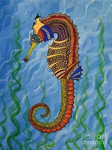 Magical Seahorse Painting by Suzette Kallen