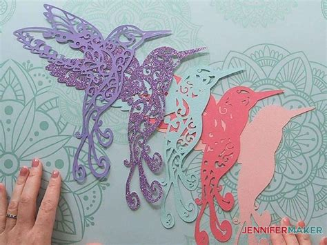 Free design of the week   design bundles. Hummingbird SVG: Make a 3D Layered Design With Your Cricut ...