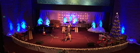 ice castle church stage design ideas