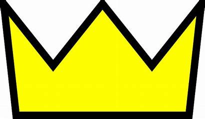 Crown Outline Clipart Simple King Yellow Vector