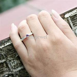 womens 03 ct purple amethyst anniversary finger silver With womens wedding ring finger