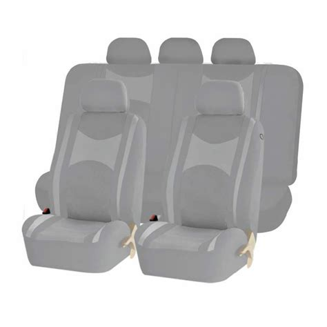 Bench Seat Covers For Cars by All Gray Honeycomb Mesh Airbag Ready Split Bench Seat