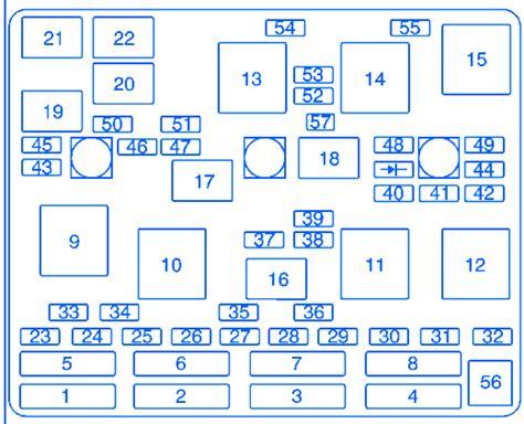 Oldsmobile Fuse Block Diagram by Oldsmobile Alero 2004 Fuse Box Block Circuit Breaker