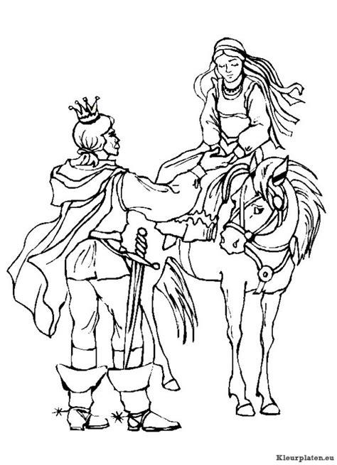 Kleurplaat Ridder En Jonkvrouw by Ridders Kleurplaat 418609 Kleurplaat